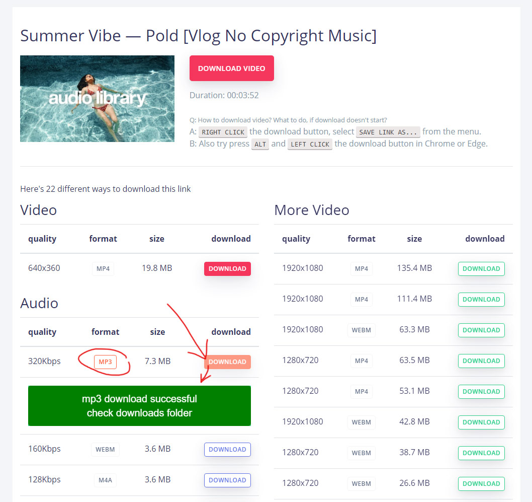 convert youtube to mp3 step 2