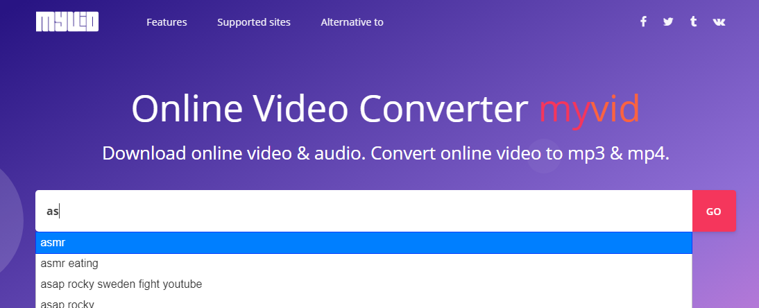download youtube video step 1 - using search