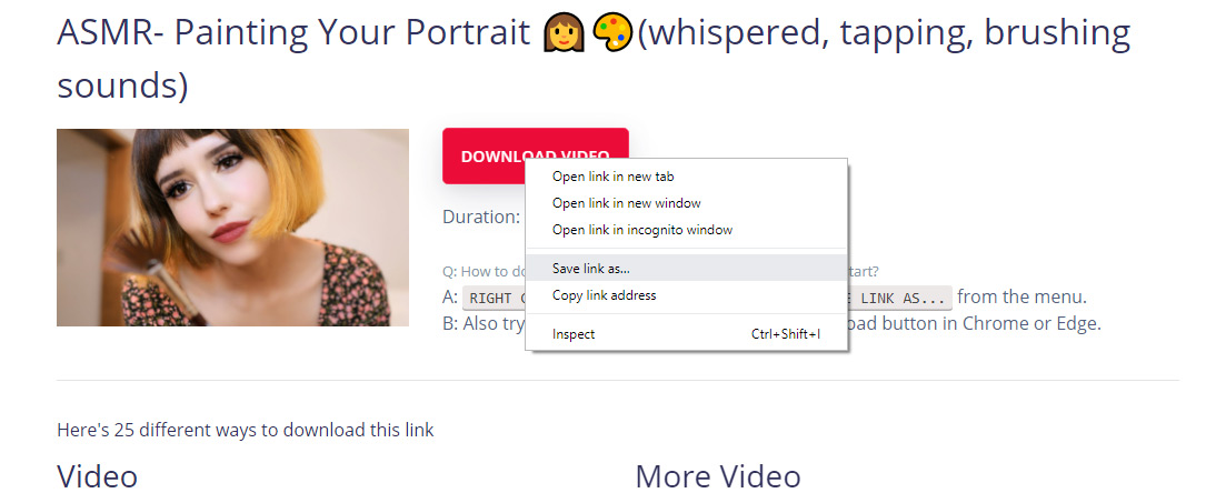 download Youtube video step 3 - save mp4 file